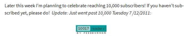Branding marketing blog reaches over 10000 subscribers